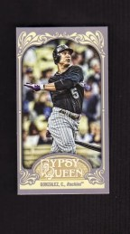 2012 Topps Gypsy Queen Carlos Gonzalez Mini Base