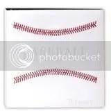 White Stitched Baseball Binder