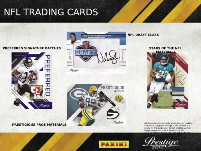 2010 Panini Prestige Football Box