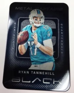 2013 Panini Black Ryan Tannehill Captain Metal Card