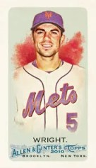 2010 Topps Allen & Ginter David Wright Base Card