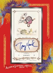 2010 Allen & Ginter Tony Hawk Framed Autograph