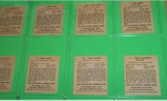 1948 Bowman Baseball Card Backs
