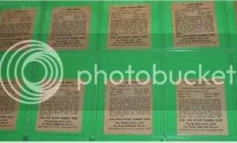 1948 Bowman Baseball Card Backs