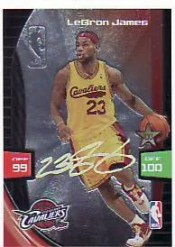 2009/10 Panini Adrenalyn XL LeBron James Ultimate Signature Code Card