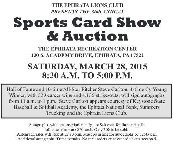 Sports Card Show Flyer