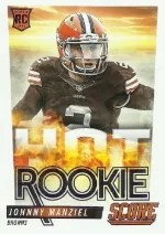 2014 Score Hot Rookies Johnny Manziel