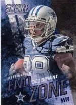 2014 Score Dez Bryant End Zone Insert