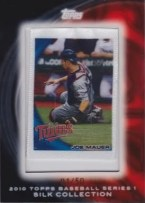 Joe Mauer Silk Parallel 2010 Topps Baseball