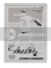 2010 Bowman Stephen Strasburg Black Printing Plate 1/1
