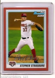 2010 Bowman Stephen Strasburg Red /1 RC