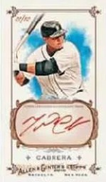 Miguel Cabrera Red Ink Topps Allen Ginter Autograph