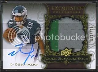 2008 Desean Jackson Exquisite Patch Auto RC /199