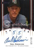 2010 Razor Poker Orel Hershiser Favorite Hand 55 Autograph
