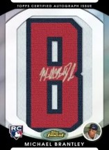 2010 Topps Finest Michael Brantley Letterman Auto