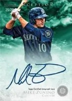 2013 Bowman Inception Mike Zunino