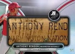 2013 Bowman Bat Plate Anthony Rendon