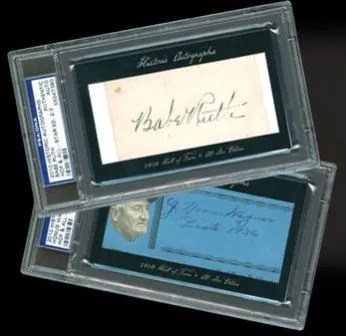 2010 Historic Autographs Baseball Cuts