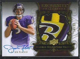 2008 Upper Deck UD Exquisite Joe Flacco Patch Autograph RC