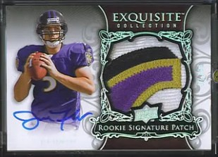 Joe Flacco UD Exquisite Patch Auto RC SP