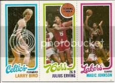 1980/91 Magic Johnson Larry Bird Julius Erving Rookie