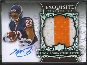 Matt Forte Upper Deck Exquisite Football Rookie RC Patch Auto