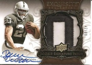 2008 Upper Deck Exquisite Football Darren McFadden RC Patch Autograph Card