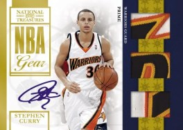 09/10 Panini National Treasures NBA Gear Stephen Curry