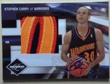 2009/10 Panini Limited Stephen Curry Patch Auto Rookie RC