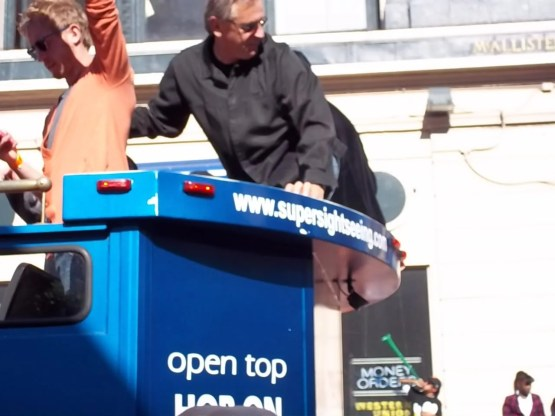 Giants Broadcaster Duane Kuiper at World Series Parade