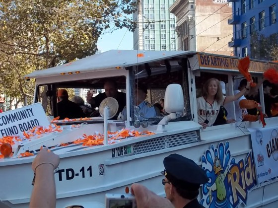 SF Giants Community Fund Parade Boat