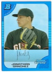 2005 Bowman Chrome Jonathan Sanchez RC