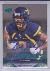 2012 Upper Deck Keith Tandy Autograph Star Rookies