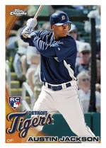 2010 Topps Chrome Austin Jackson Base Card