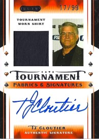 2010 Razor Poker TJ Cloutier Autograph Tournament Fabrics