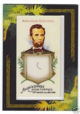Abraham Lincoln 2009 Allen & Ginter DNA Card