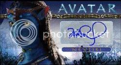 2010 Topps Avatar Zoe Saldana Nevtiri Autograph Auto