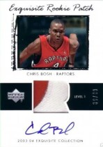 03/04 Chris Bosh Exquisite Patch RC