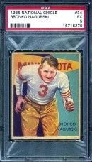 1935 National Chicle Bronko Nagurski PSA 5