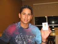 2010 Topps Chicle Carlos Carrasco Signing