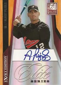 Albert Pujols High School Donruss Elite EEE Autograph Card