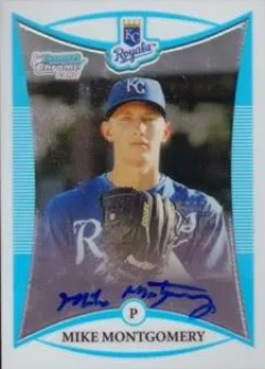2008 Bowman Chrome Mike Montgomery Auto RC
