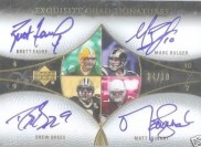 Quad Signature Auto Cards