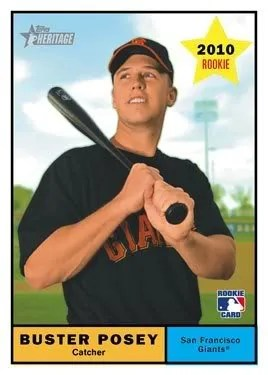 Buster Posey 2010 Topps Heritage RC Rookie Card
