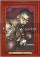 2010 Ringside Boxing Round 1 Rubin Hurricane Carter Turkey Red