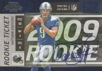 2009 Playoff Contenders Matthew Stafford Auto RC