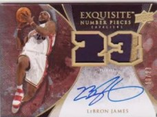 LeBron James Exquisite Number Pieces Patch Autograph