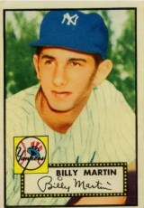 Billy Martin 1952 Topps RC #175