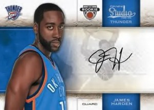 2009/10 Panini Studio James Harden Auto RC