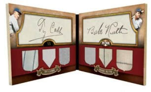2010 Triple Threads Babe Ruth Ty Cobb Cut Above Auto Relic